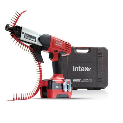 Intex Autofeed Screw Gun Kit 3.0AH 18V Li-Ion (Incl. 2 Batteries & Charger)